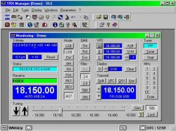 TRX-manager (software) for steering of radio, antenna and amplifier.
