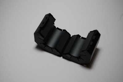 Clamp-on ferrite #31 for multiple turns RG-213